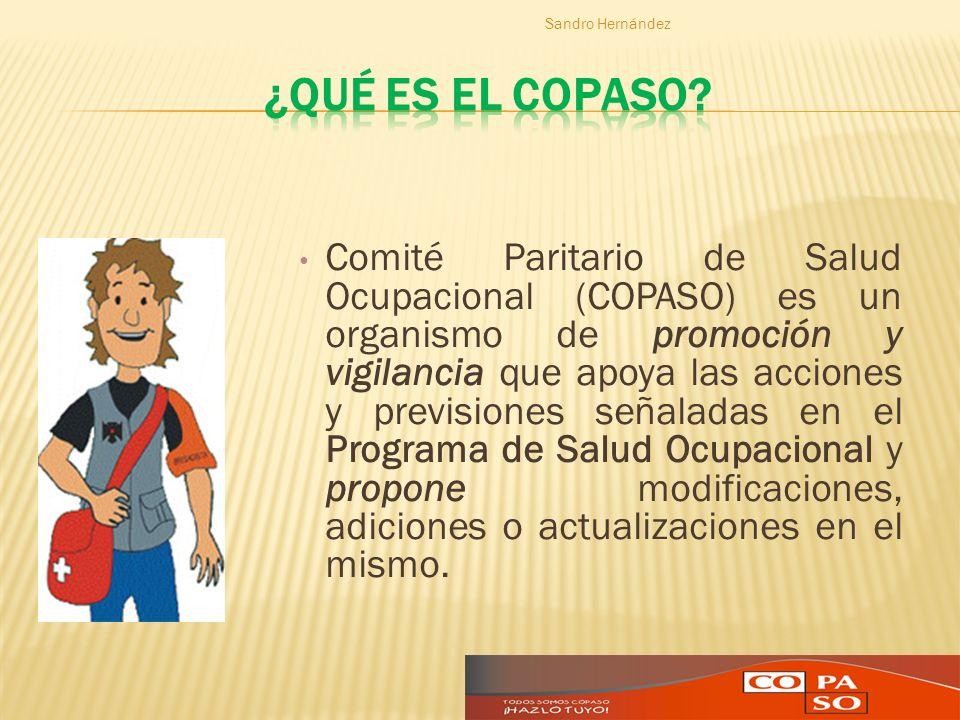Comité Paritario de Salud Ocupacional (COPASO) es un organismo de promoción y vigilancia que apoya las acciones y previsiones señaladas en el Programa
