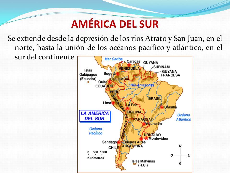LIMITES GEOLÓGICOS DE AMÉRICA LATINA Al Norte, Con el istmo de Tehuantepec Al Sur, con el océano glaciar antártico Al Oriente, con el océano Atlántico Al Occidente, con el océano pacífico