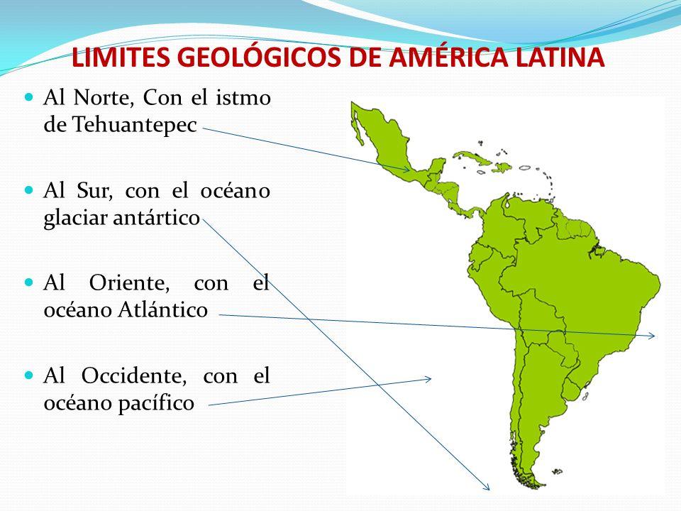 PUNTOS EXTREMOS DE AMÉRICA LATINA Al norte, islas Bahamas Al sur Cabo de Hornos Al oriente Recife Al occidente Istmo de tehuantepec