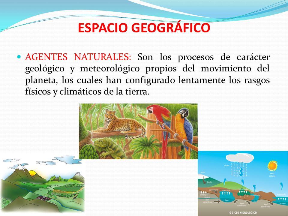 ESPACIO GEOGRÁFICO ACCIONES HUMANAS: Son todas las actividades productivas que hacen los seres humanos, para establecerse en la superficie terrestre.