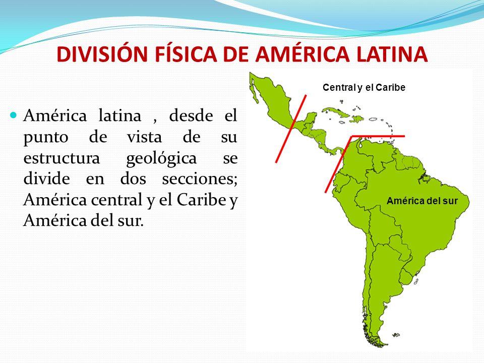 AMÉRICA CENTRAL Y EL CARIBE Constituye una franja que une a América del norte con América del sur.