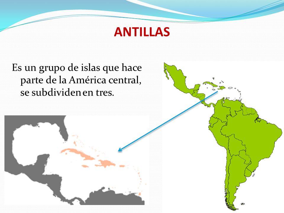 ANTILLAS DEL NORTE Consiste en un grupo de islas llamadas las Bahamas o lucayas.