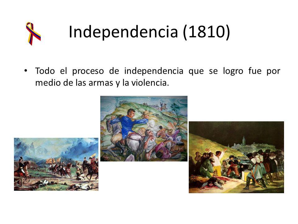 Conformación de La República Se logro a través de largos, numerosos y sangrientos conflictos regionales.