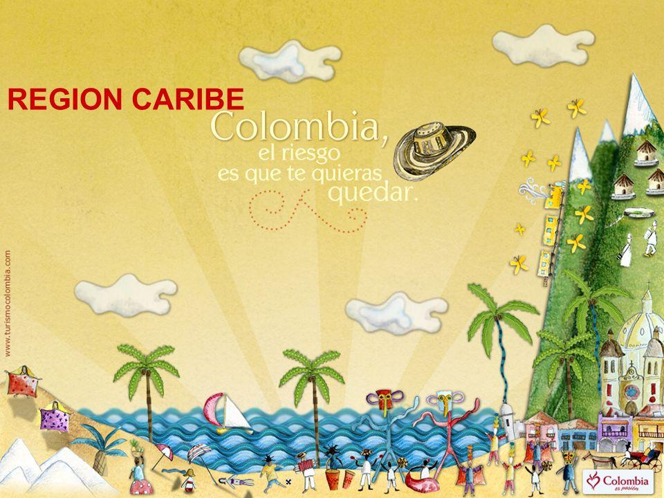 REGIÓN CARIBE Ubicación: Se ubica al norte del país, desde el golfo de Urabá hasta la península de la Guajira.