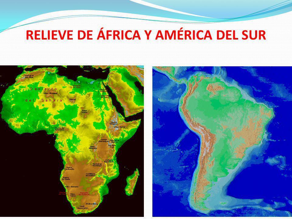 RELIEVE DE ÁFRICA Y AMÉRICA DEL SUR