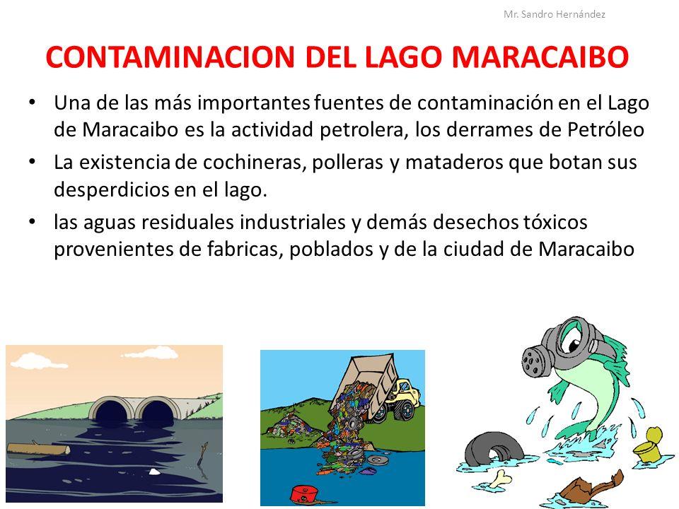 CONTAMINACION DEL LAGO MARACAIBO Una de las más importantes fuentes de contaminación en el Lago de Maracaibo es la actividad petrolera, los derrames d