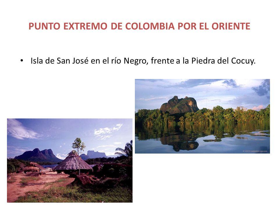 PUNTO EXTREMO DE COLOMBIA POR EL ORIENTE Isla de San José en el río Negro, frente a la Piedra del Cocuy.