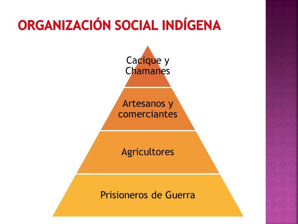 Cacique y Chamanes Artesanos y comerciantes Agricultores Prisioneros de Guerra