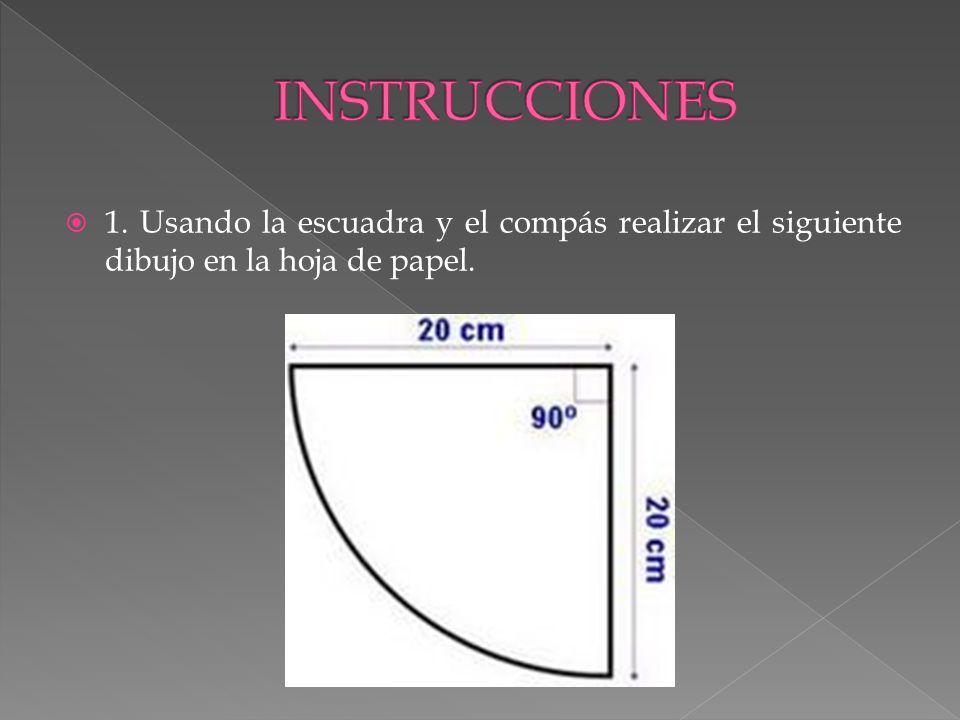 2.Con transportador y regla marcar los ángulos sobre el borde circular.