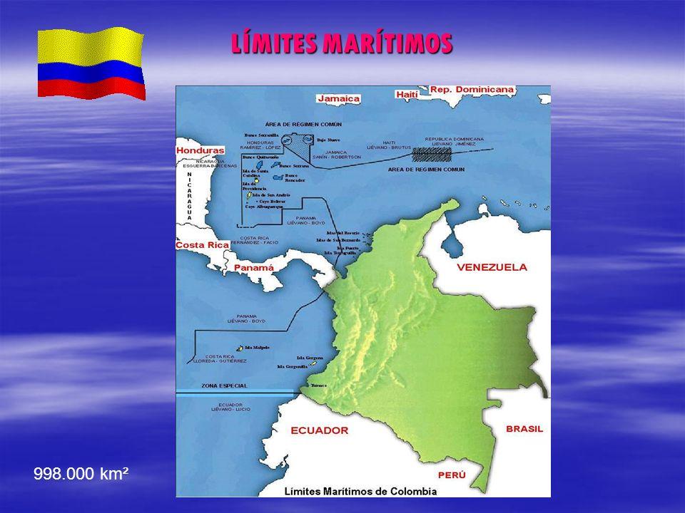 LÍMITES MARÍTIMOS 998.000 km²