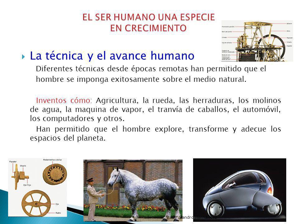 La técnica y el avance humano Diferentes técnicas desde épocas remotas han permitido que el hombre se imponga exitosamente sobre el medio natural. Inv