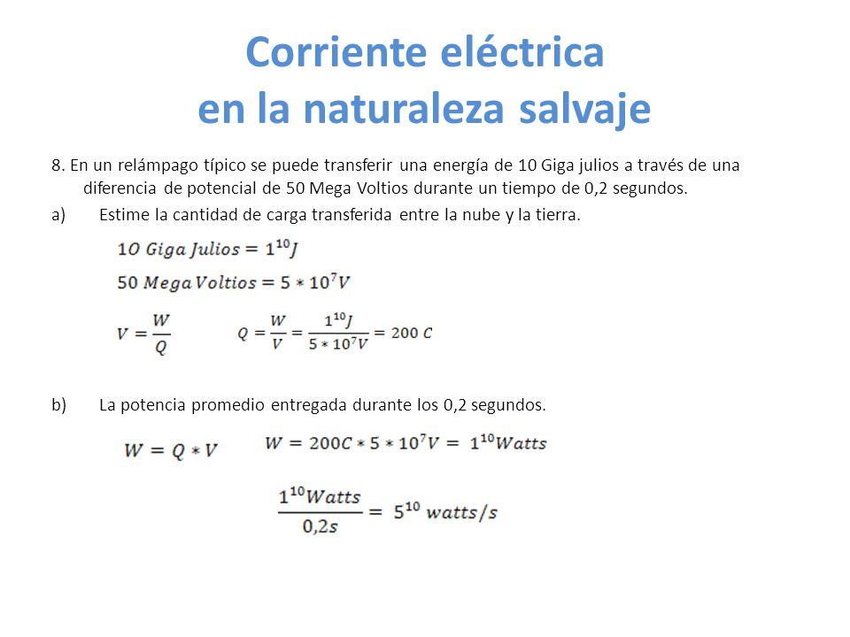 Corriente eléctrica en la naturaleza salvaje 8.