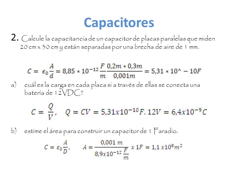 Energía almacenada en un capacitor (de una unidad de flash en una cámara fotográfica) 3.
