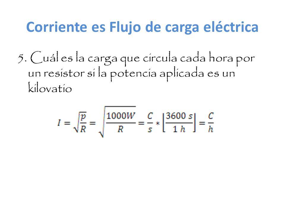 Corriente es Flujo de carga eléctrica 5.