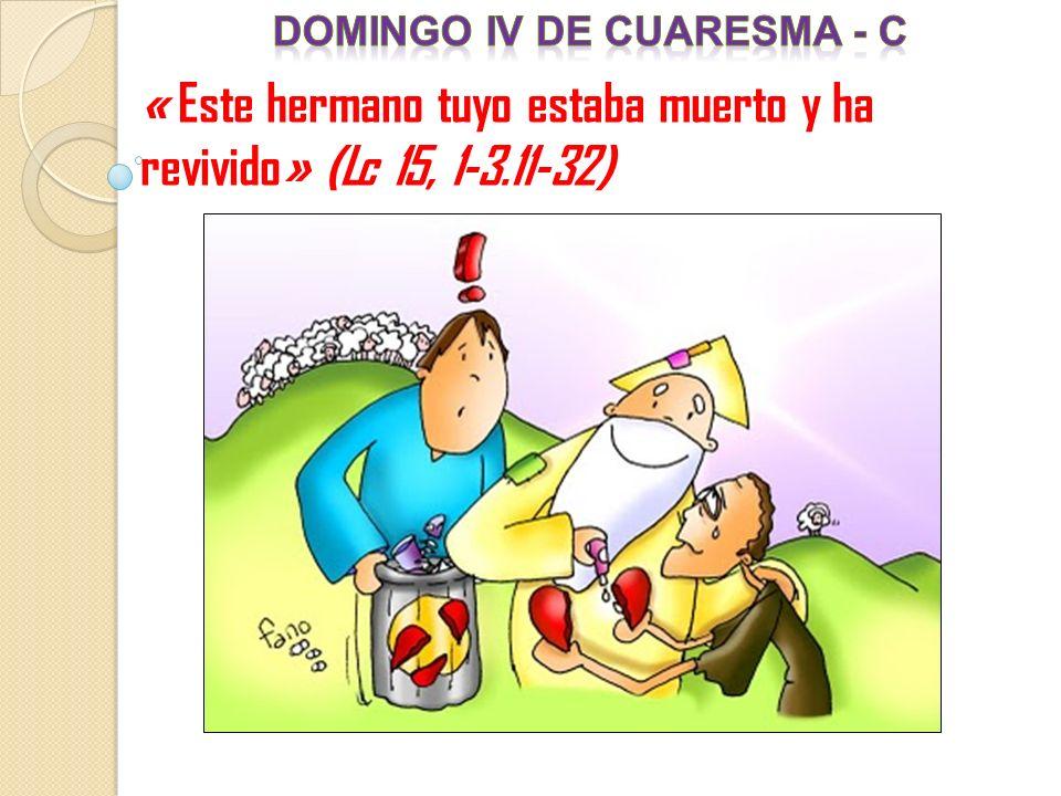« Este hermano tuyo estaba muerto y ha revivido» (Lc 15, 1-3.11-32)