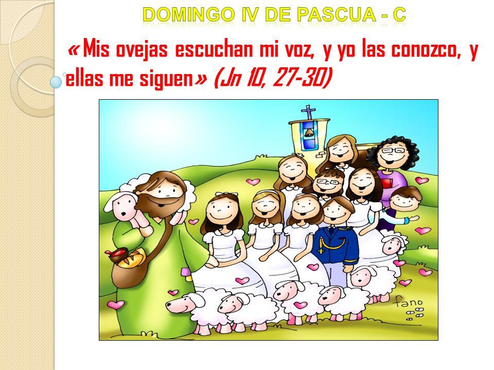 « Mis ovejas escuchan mi voz, y yo las conozco, y ellas me siguen» (Jn 10, 27-30)