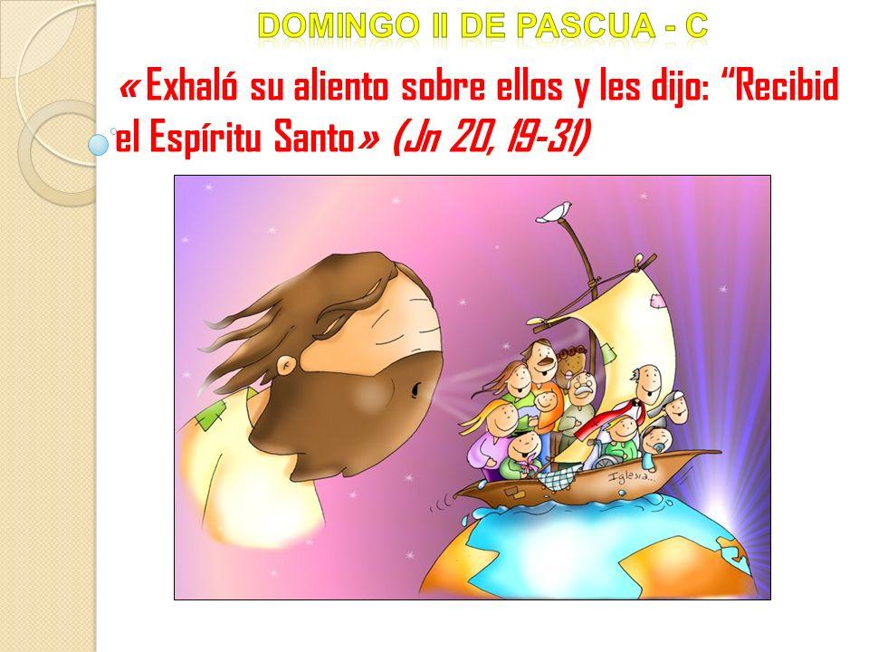 Pon la letra que falta y descubrirás en el acróstico el mayor don de la Pascua Al anochecr de aquel día, el primero de la semana, estaban lo discípulos en una casa, con lasuertas cerradas por miedo a los jud os.