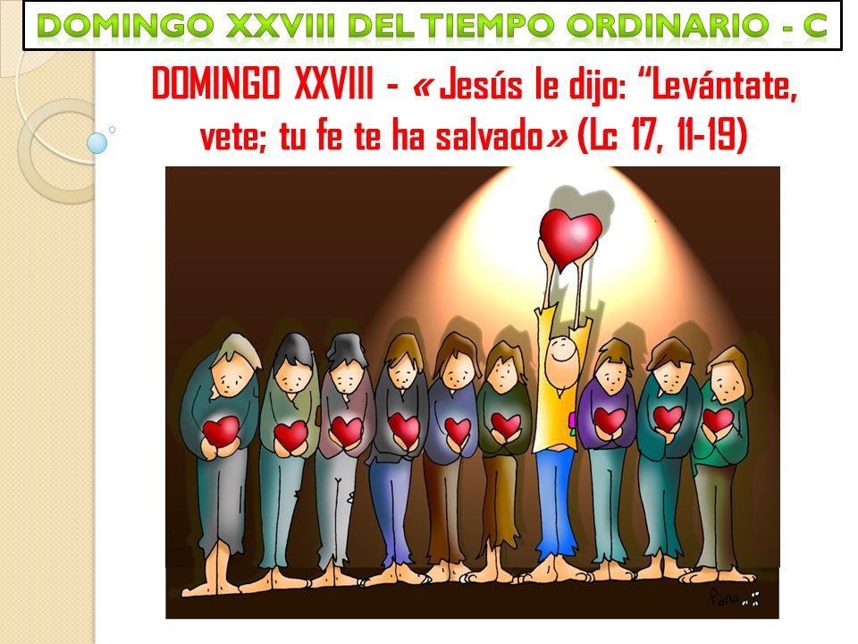 DOMINGO XXVIII - « Jesús le dijo: Levántate, vete; tu fe te ha salvado» (Lc 17, 11-19)
