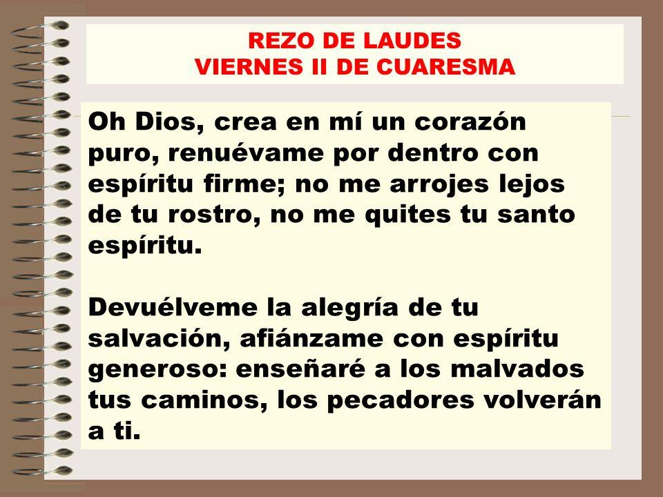 ¡Líbrame de la sangre, oh Dios, Dios, Salvador mío!, y cantará mi lengua tu justicia.