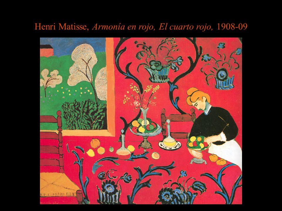 Henri Matisse, Armonía en rojo, El cuarto rojo, 1908-09