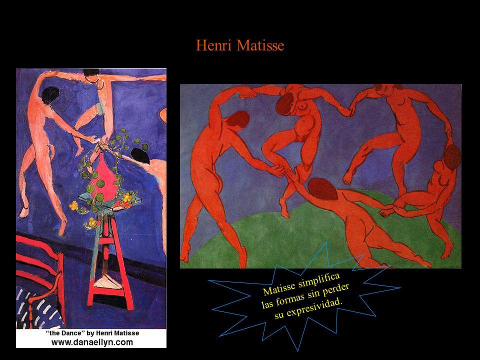Matisse simplifica las formas sin perder su expresividad.