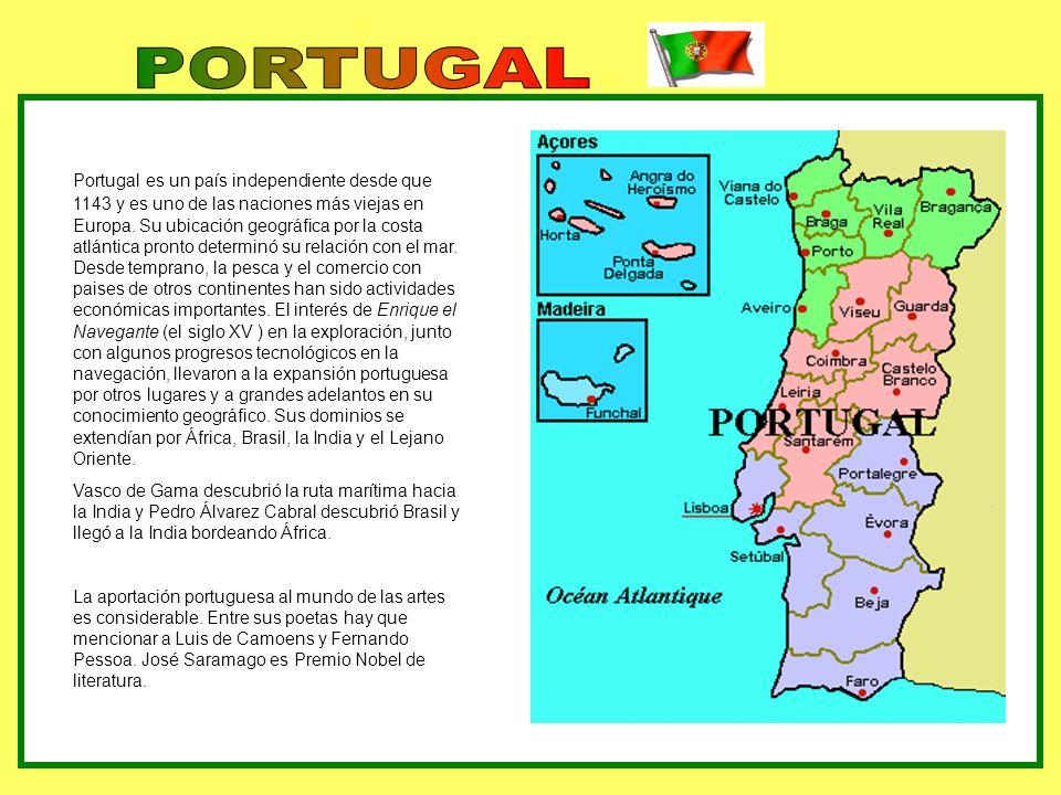 GEOGRAFÍA Portugal está dividida en dos por su río principal, el Tajo.