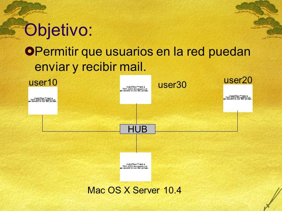IMAP Habilitar Acceso a IMAP: 1.En Server Admin, seleccione Mail en el panel Computers & Services.