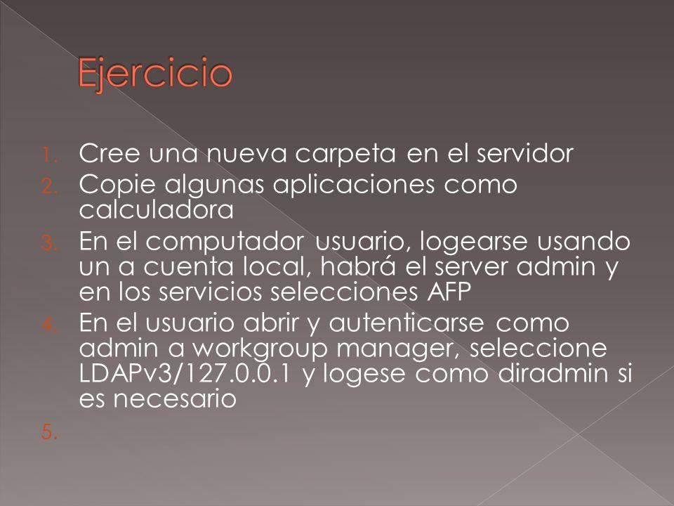 1. Cree una nueva carpeta en el servidor 2. Copie algunas aplicaciones como calculadora 3.