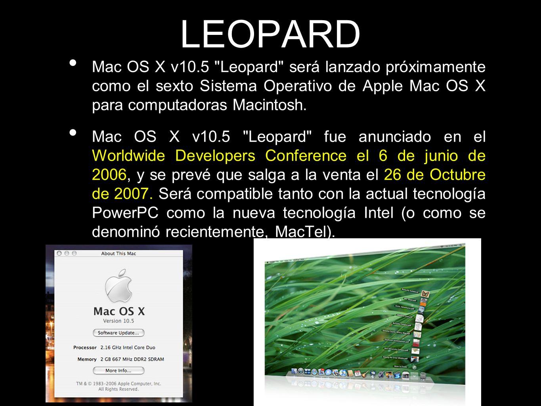 LEOPARD Mac OS X v10.5