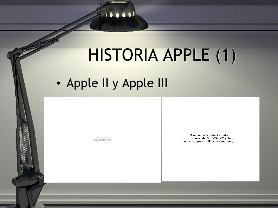 HISTORIA APPLE (1) Apple II y Apple III