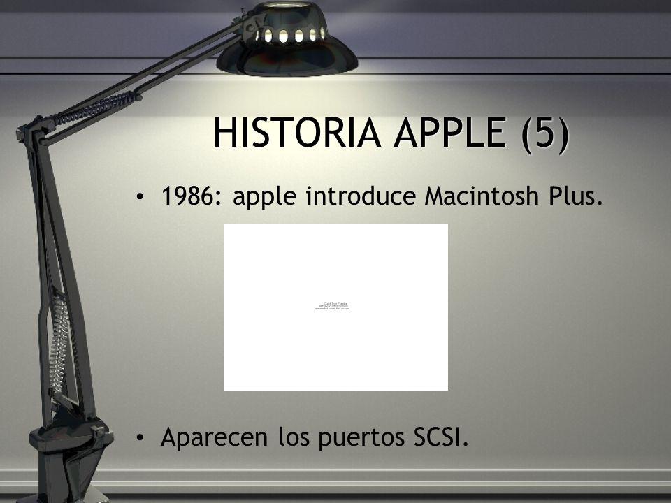HISTORIA APPLE (5) 1986: apple introduce Macintosh Plus. Aparecen los puertos SCSI.