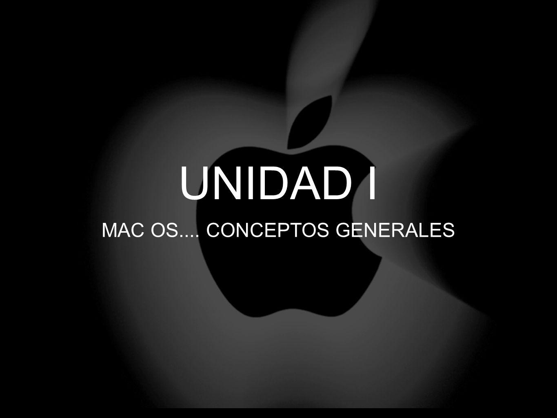 UNIDAD I MAC OS.... CONCEPTOS GENERALES