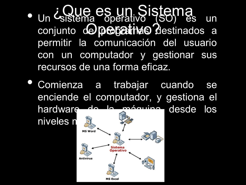 Características.......Conveniencia: SO hace más conveniente el uso de una computadora.