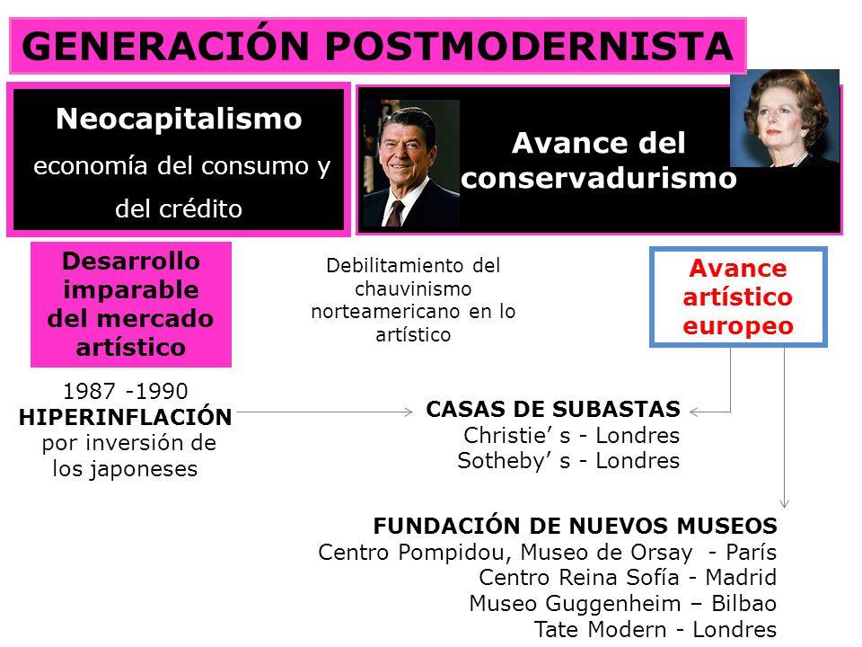 «babel informativa» Progreso (esperanza) / nostalgia Dualismos / pluralidad Universalismo / Relativismo etnocentismo /multiculturalismo GENERACIÓN POSTMODERNISTA Desarrollo de los medios de comunicación J.