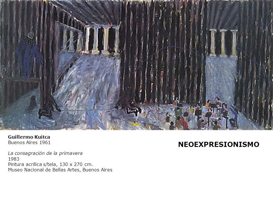 Guillermo Kuitca Buenos Aires 1961 La consagración de la primavera 1983 Pintura acrílica s/tela, 130 x 270 cm. Museo Nacional de Bellas Artes, Buenos