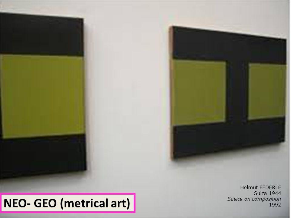 Helmut FEDERLE Suiza 1944 Basics on composition 1992 NEO- GEO (metrical art)