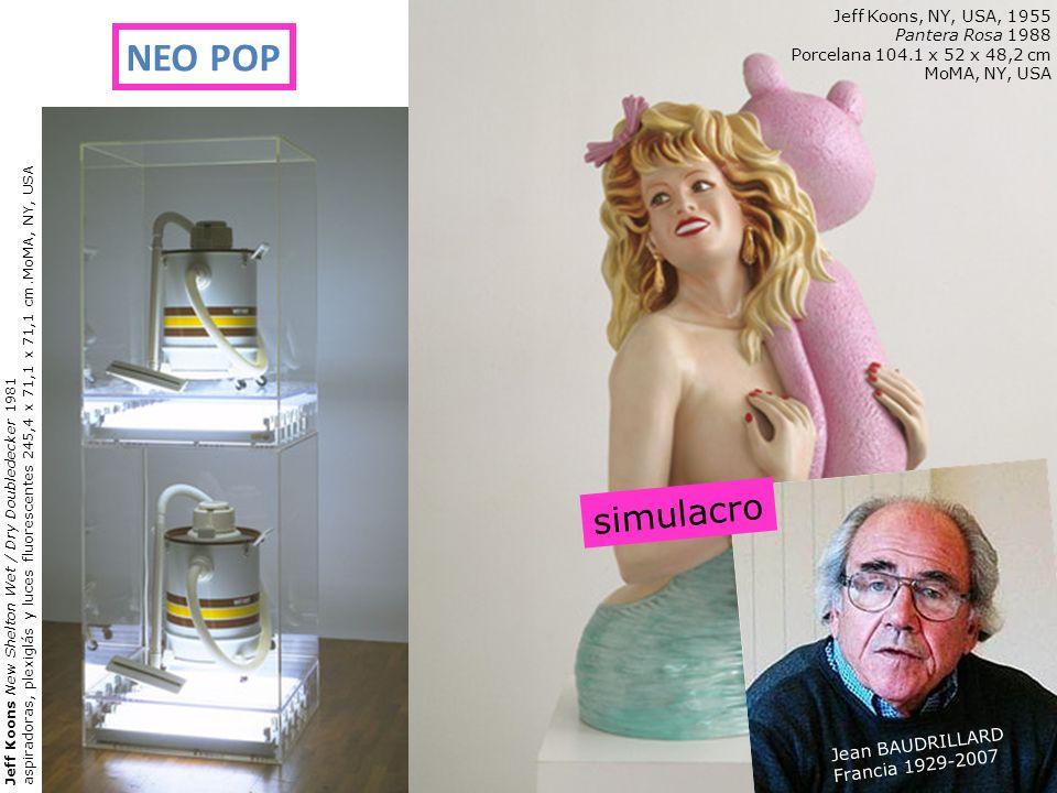 Jeff Koons New Shelton Wet / Dry Doubledecker 1981 aspiradoras, plexiglás y luces fluorescentes 245,4 x 71,1 x 71,1 cm.MoMA, NY, USA Jeff Koons, NY, U