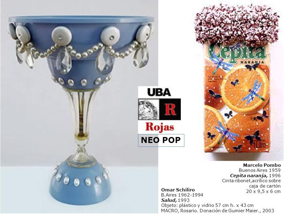 Omar Schiliro B.Aires 1962-1994 Salud, 1993 Objeto: plástico y vidrio 57 cm h. x 43 cm MACRO, Rosario. Donación de Gumier Maier., 2003 Marcelo Pombo B