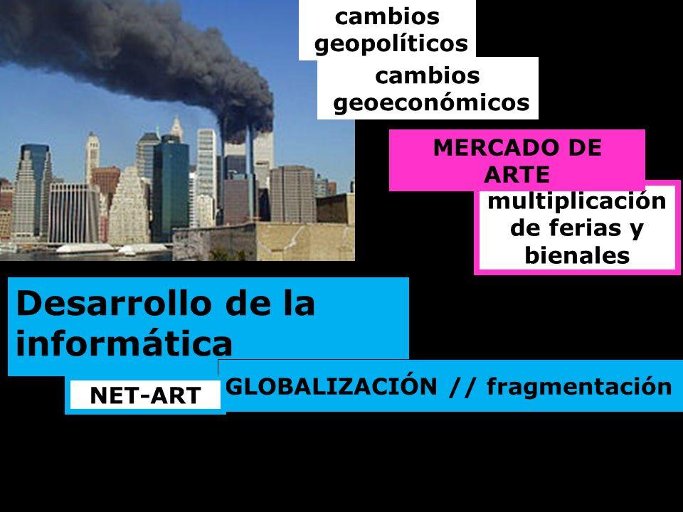 cambios geopolíticos multiplicación de ferias y bienales cambios geoeconómicos MERCADO DE ARTE Desarrollo de la informática GLOBALIZACIÓN // fragmenta
