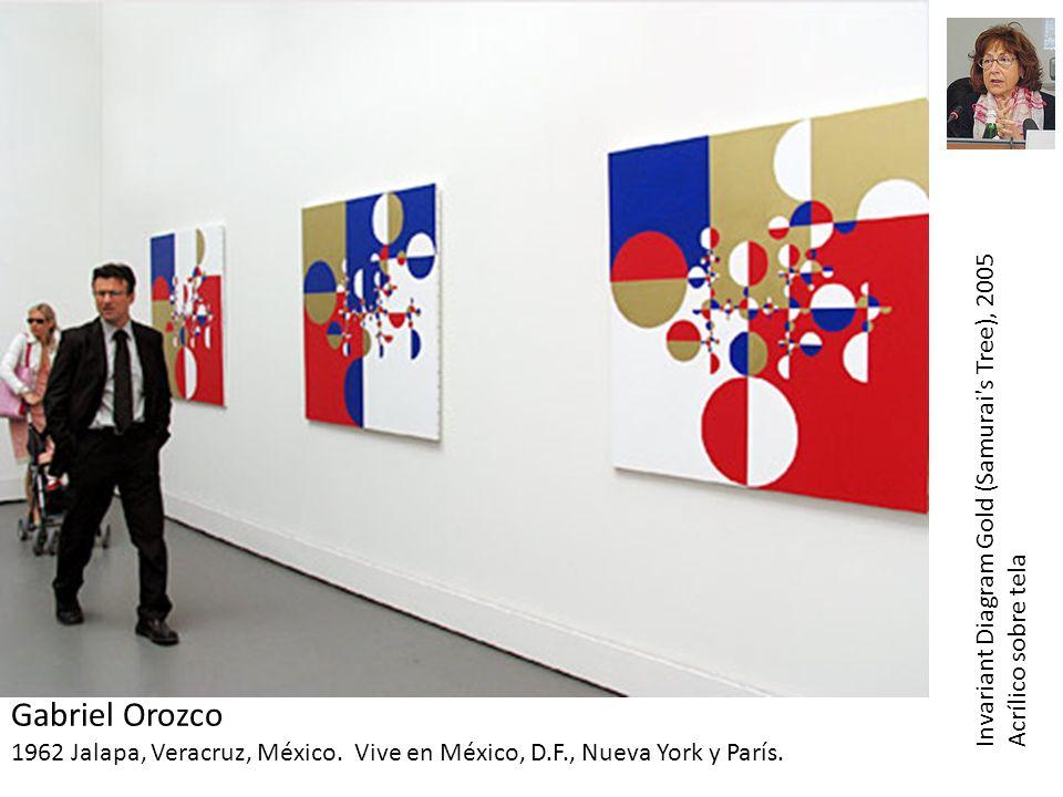 Gabriel Orozco 1962 Jalapa, Veracruz, México. Vive en México, D.F., Nueva York y París. Invariant Diagram Gold (Samurai's Tree), 2005 Acrílico sobre t