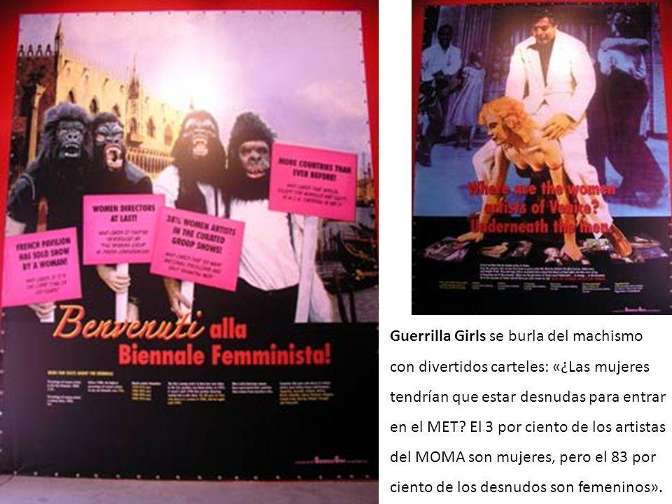 Guerrilla girls Guerrilla Girls se burla del machismo con divertidos carteles: «¿Las mujeres tendrían que estar desnudas para entrar en el MET? El 3 p