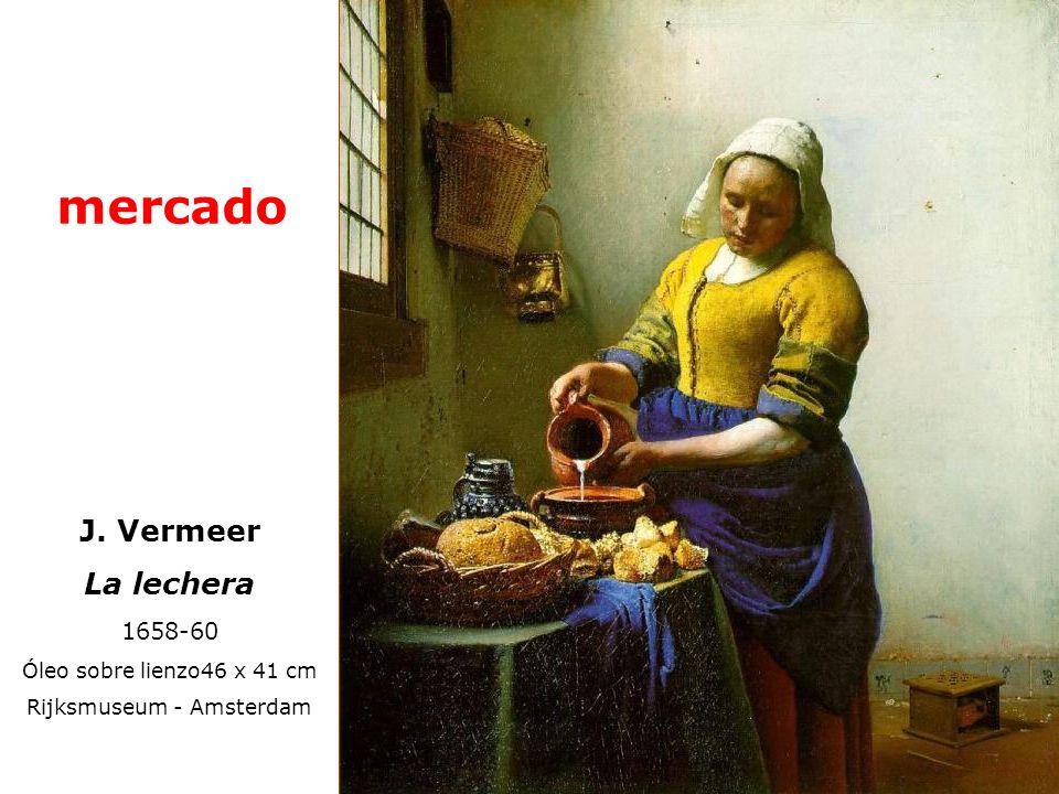 J. Vermeer La lechera 1658-60 Óleo sobre lienzo46 x 41 cm Rijksmuseum - Amsterdam mercado