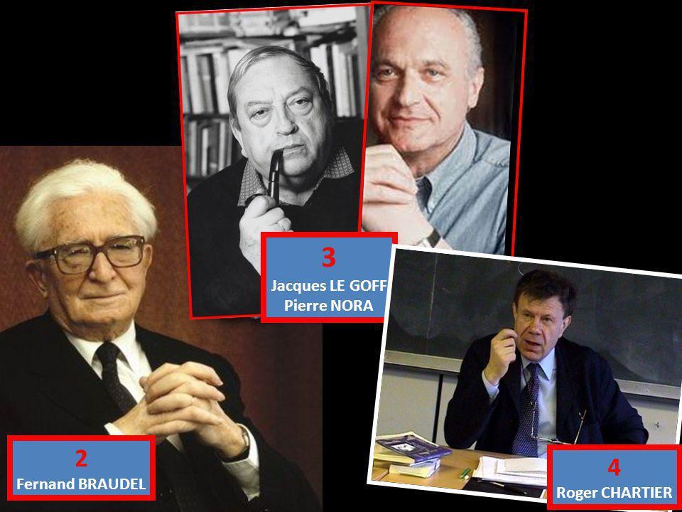2 Fernand BRAUDEL 3 Jacques LE GOFF Pierre NORA 4 Roger CHARTIER