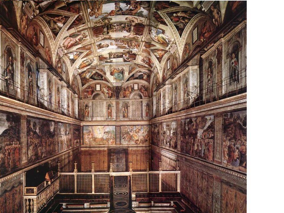 Miguel Ángel Caprese 1475- Roma 1564 Bóveda de la Capilla Sixtina 1508-12 40,93 x 13,41 m (dimensiones del templo de Salomón según el Antiguo Testamen