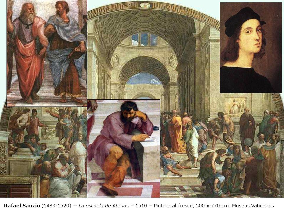 Rafael Sanzio (1483-1520) – La escuela de Atenas – 1510 – Pintura al fresco, 500 x 770 cm. Museos Vaticanos
