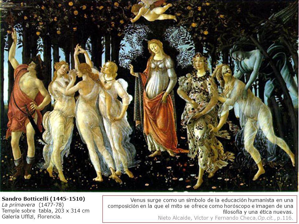Sandro Botticelli (1445-1510) La primavera (1477-78) Temple sobre tabla, 203 x 314 cm Galería Uffizi, Florencia. Realizada para Lorenzo di Pierfrances
