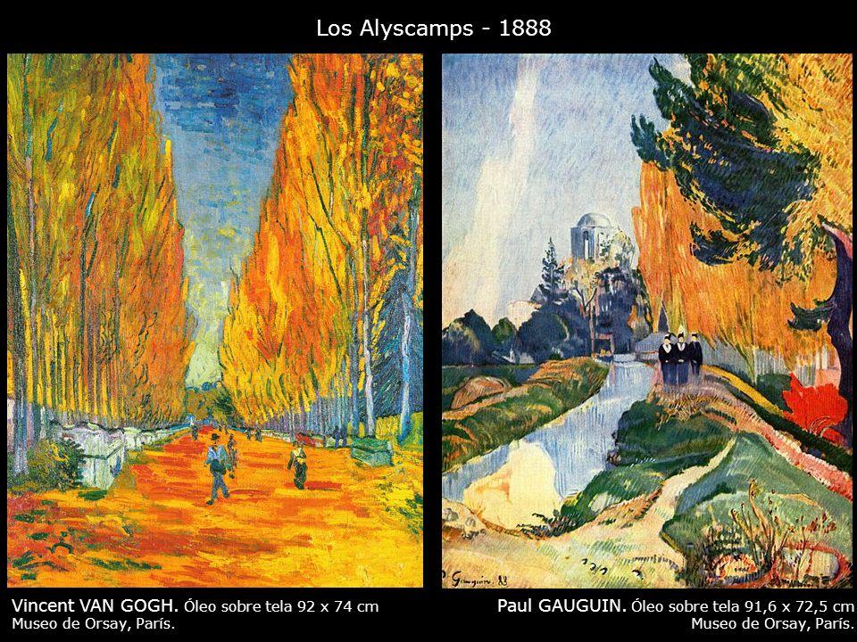 Los Alyscamps - 1888 Paul GAUGUIN. Óleo sobre tela 91,6 x 72,5 cm Museo de Orsay, París. Vincent VAN GOGH. Óleo sobre tela 92 x 74 cm Museo de Orsay,