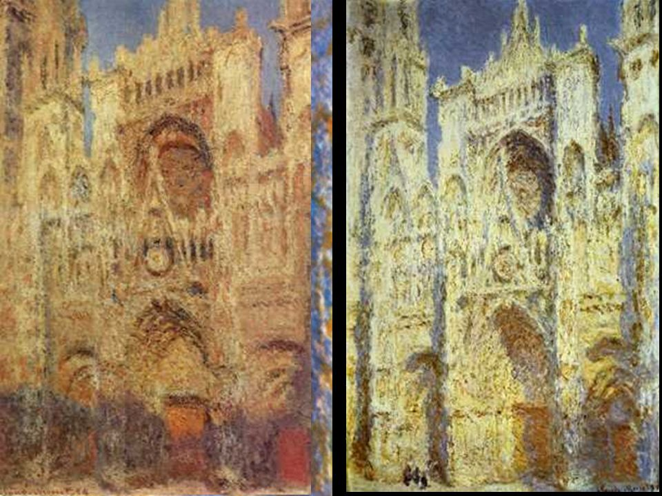 Investigaciones ópticas de Chevreul (1839) Rood (1881) Sutton (1880) Helmholtz (1878) Monet La catedral de Rouen 1893 Óleo sobre lienzo 91 x 63 cm Mus