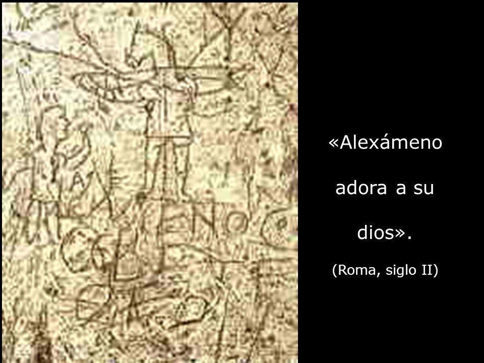 «Alexámeno adora a su dios». (Roma, siglo II)