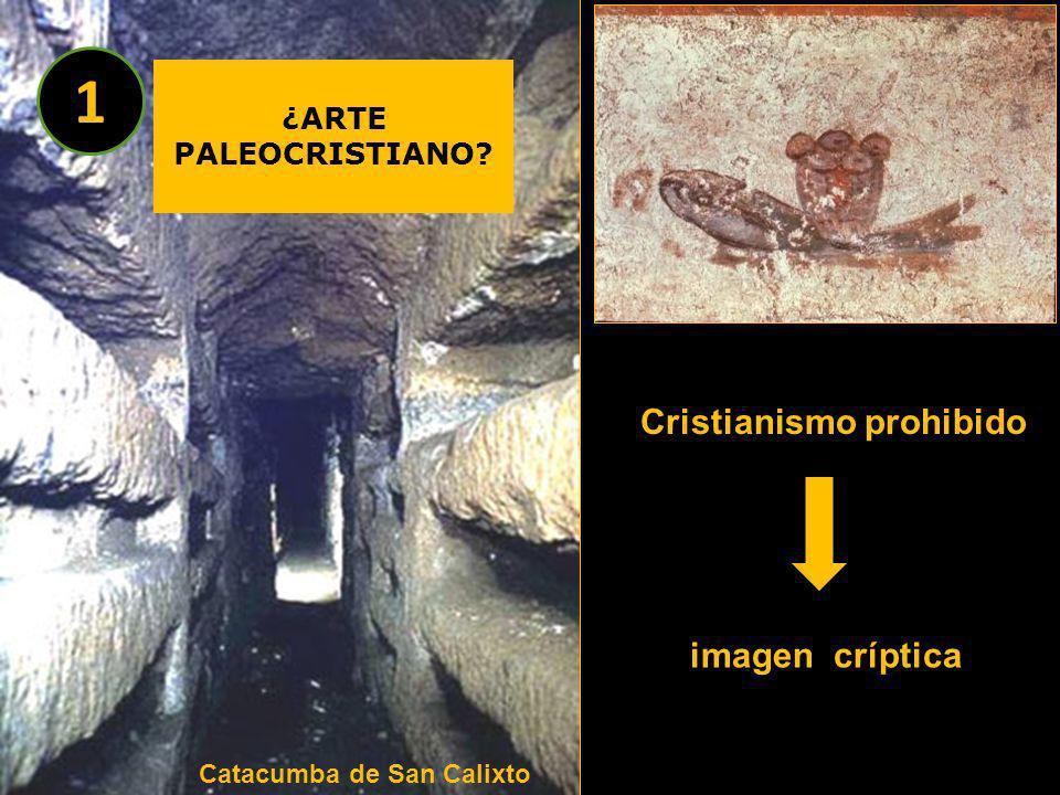 Cristianismo prohibido imagen críptica Catacumba de San Calixto ¿ARTE PALEOCRISTIANO? 1